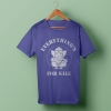 Everything is for sale blue t-shirt